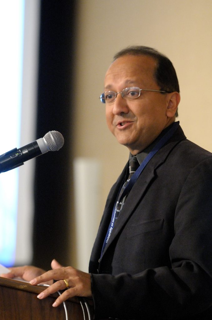 Speaker at a past symposium